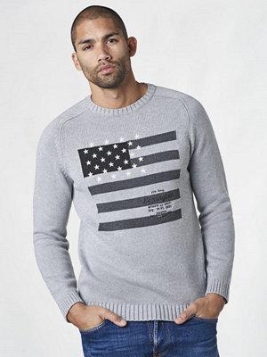 Tröjor & cardigans - Lexington Dylan Sweater Heather Grey Melange