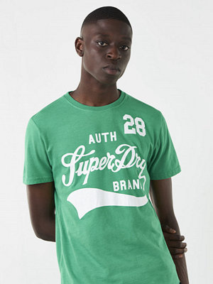 T-shirts - Superdry Underline Tee Kelly Green