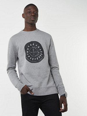 Tröjor & cardigans - WESC Miles Theme Print Grey Melange