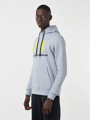 Street & luvtröjor - Under Armour Rival Fitted Graphic Hoodie 025 Grey
