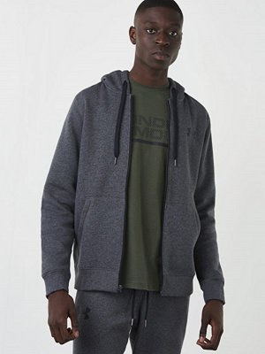 Street & luvtröjor - Under Armour Rival Fitted Full Zip 090 Grey