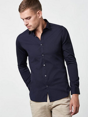 Skjortor - Dstrezzed Luxury Poplinshirt Dark Navy