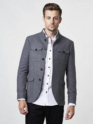 Kavajer & kostymer - Castor by Castor Pollux Brutus Grey Flannel Wool Jacket/Blazer