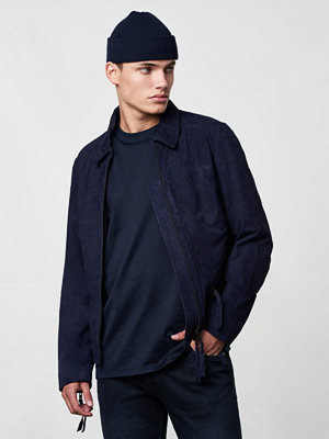 Skinnjackor - Lavage Foncé Suede Jacket Navy