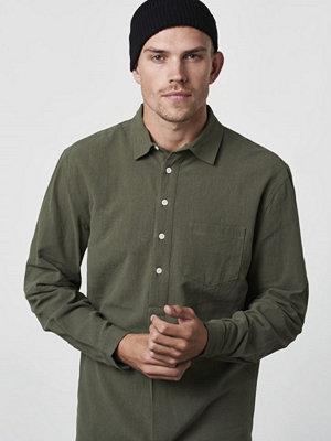 Skjortor - Resteröds Pop Over Shirt Army Green