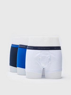 Kalsonger - Armani 3-pack Stretch Cotton Trunk 46135 Blue/White