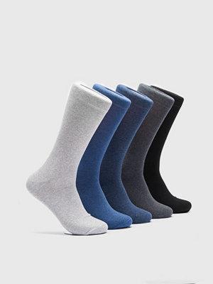 Strumpor - Björn Borg 5-Pack Noos Essential Sock 90341 Grey Melange
