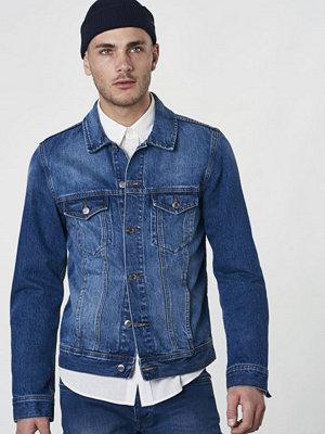 Jeansjackor - Dr. Denim Dwight Jacket Worn Mid Blue