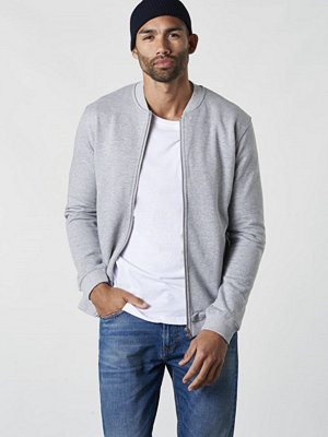 Studio Total Oliver Zip Bomber Grey Mel