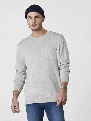 Lexington Jeff Crew Neck Sweater Light Warm Grey Mel