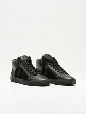 Sneakers & streetskor - Jim Rickey Zed Mid Leather / Studs Black Mono