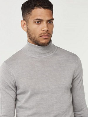Tröjor & cardigans - Studio Total Craven Roll Neck Light Grey Melange