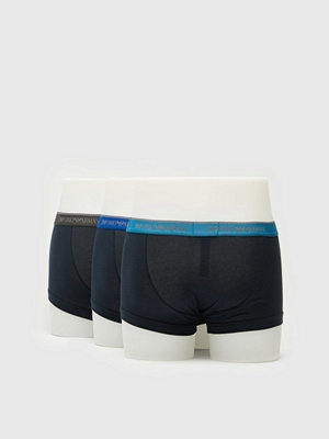 Kalsonger - Armani 3-pack Stretch Cotto Trunk 40035 Marine