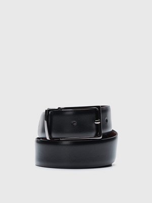 Bälten & skärp - Oscar Jacobson OJ Reversible Belt 15616 Black/Dark Brown