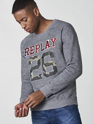 Replay RBJ Logo Icon Sweat Greymelange