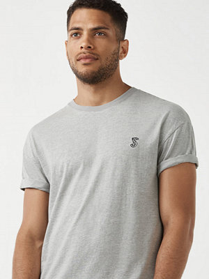 Studio Total Fred Monogram Tee Grey Melange