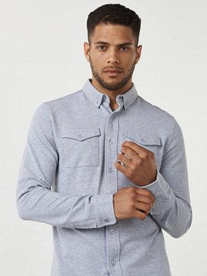 Skjortor - Studio Total Rasmus Pique Shirt Grey Melange