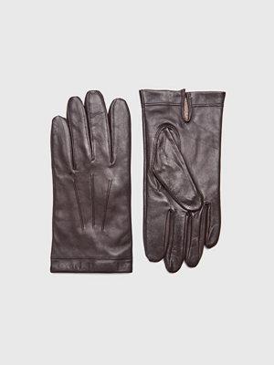 Handskar & vantar - Amanda Christensen Gents Glove Goatleather Dark Brown