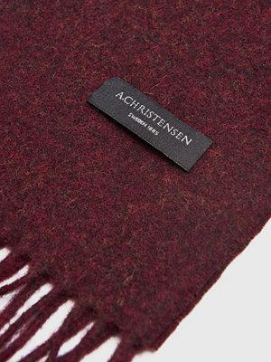 Halsdukar & scarves - Amanda Christensen Winter wool Scarf Burgundy