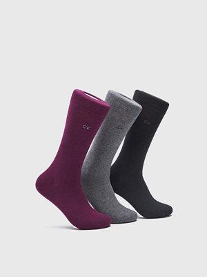 Strumpor - Calvin Klein Underwear 3-pack CK Socks MA1 Wine