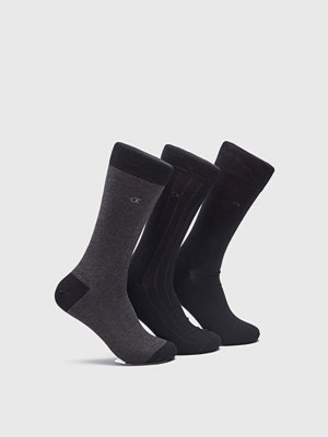 Strumpor - Calvin Klein Underwear 3-pack Pattern Socks 00 Black