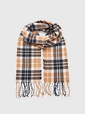 Studio Total Stefano Checked Scarf Camel