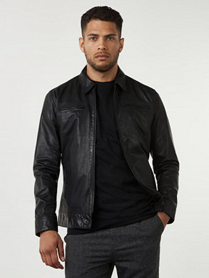 Skinnjackor - Studio Total Skylar Leather Jacket Black