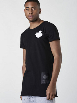 Proud Canadian Leaf Cheast Tee Black