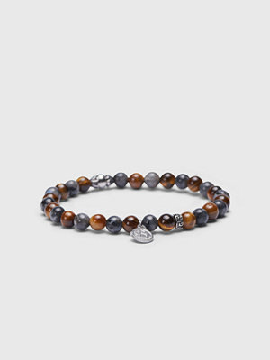 Smycken - by Billgren Tigers eye Bracelet 8139 Brown/Grey