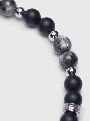 Smycken - by Billgren Onyx Bracelet 8137 Black/Grey