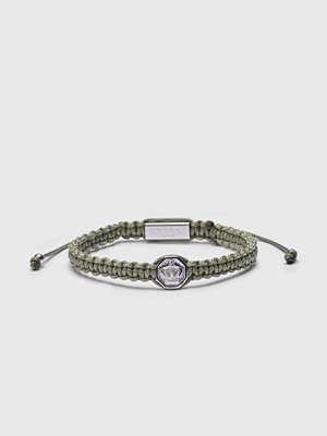 Smycken - Von Lukacs Monarch 925 Military Green/White Gold