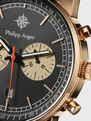 Klockor - Philipp Auger 3RG Chrono Rose Gold / Black