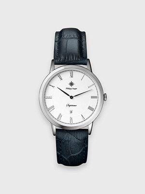 Klockor - Philipp Auger 28S Silver / Navy Blue