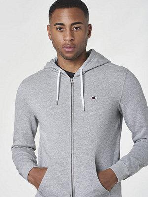 Street & luvtröjor - Champion Hooded Full Zip Sweatshirt Oxford Grey