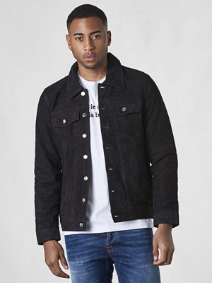 Skinnjackor - William Strouch Suede Jacket Dark Grey