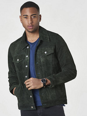 Skinnjackor - William Strouch Suede Jacket Green