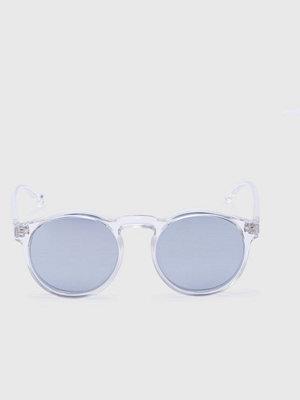 Solglasögon - Le Specs Cubanos Xtal Clear / Silver Mirror Lens