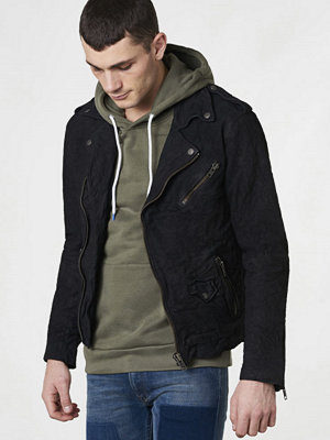 Skinnjackor - Castor by Castor Pollux Motos Leather Jacket Black Washed