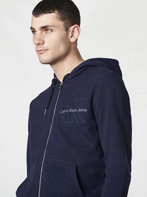 Street & luvtröjor - Calvin Klein Jeans Hasto 2 Hoodie Night Sky