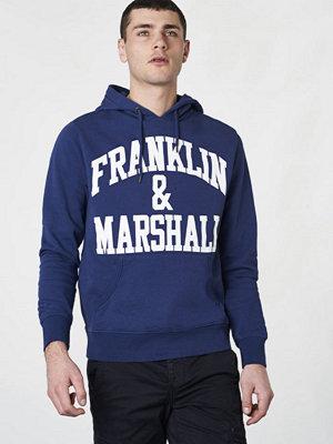 Street & luvtröjor - Franklin & Marshall Franklin Logo Hood Navy