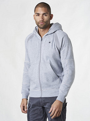 Street & luvtröjor - G-Star Rackam Hooded Zip Sweat Grey Htr