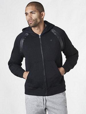 Street & luvtröjor - G-Star Rackam Hooded Zip Sweat Black