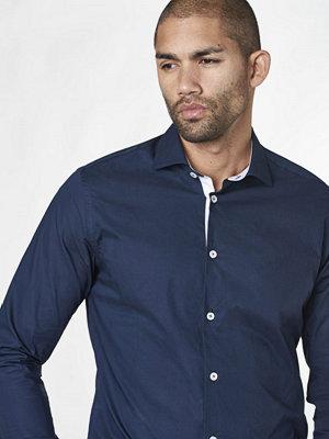 Skjortor - Studio Total Henry Contrast Shirt Dark Navy