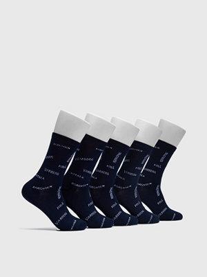 Strumpor - Frank Dandy 5-pack Swewaii 2 Bamboo socks Navy