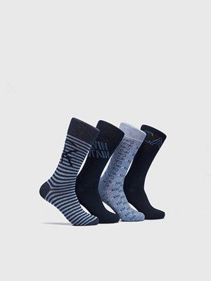 Strumpor - Calvin Klein Underwear 4-pack Logo Socks 97 Blue