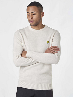 Tröjor & cardigans - Lyle & Scott Lambs Wool Blend Jumper Sandy Marl