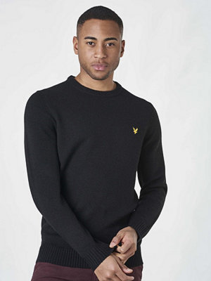 Tröjor & cardigans - Lyle & Scott Lambs Wool Blend Jumper True Black