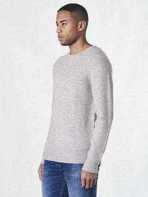 Tröjor & cardigans - Studio Total Evan Knitted Sweater Grey Melange