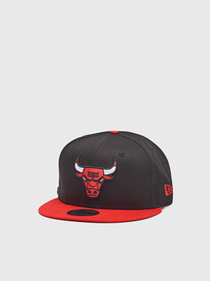 Kepsar - New Era 9 Fifty Chicago Bulls Black/Red