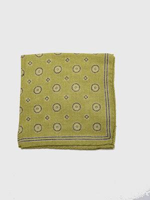 Slipsar - Castor Pollux Panni Hankie Lime Printed Wool